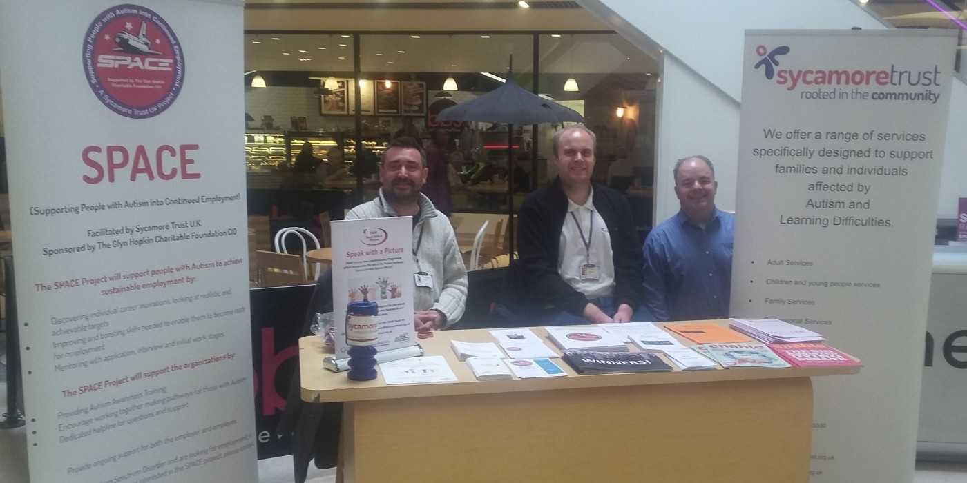 The Sycamore Trust  team at Mercury Mall